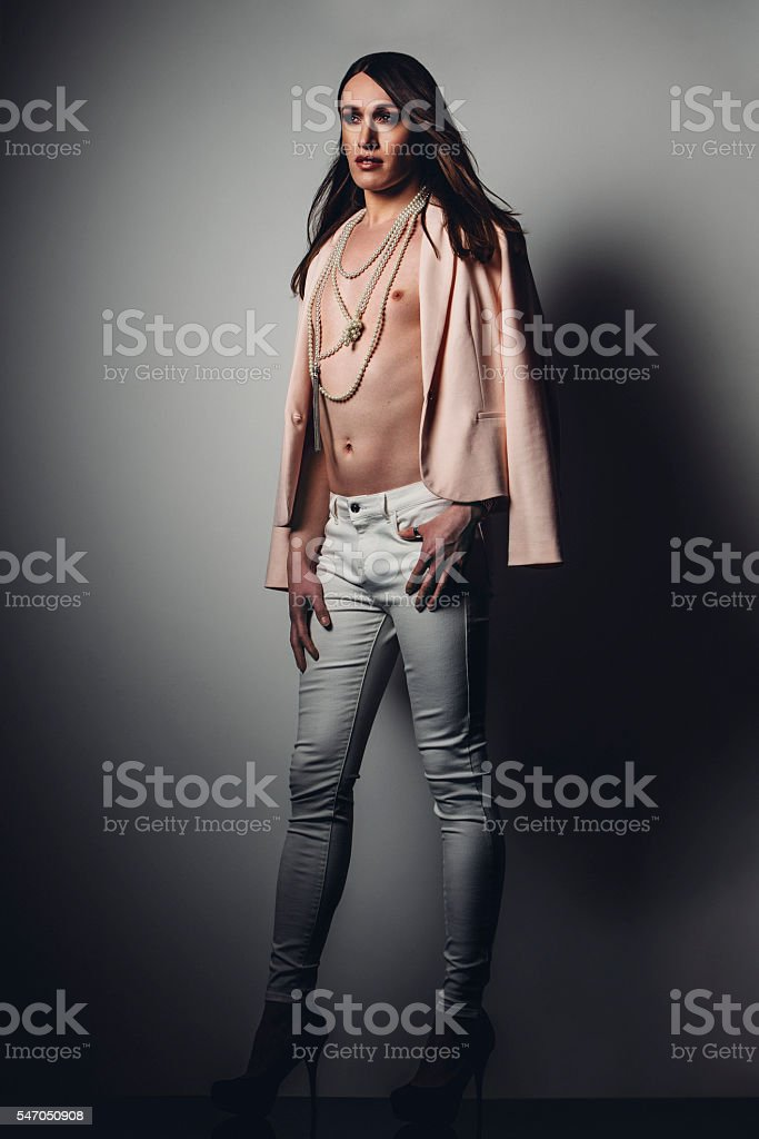 Beautiful Pre-Op Transgender Woman stock photo