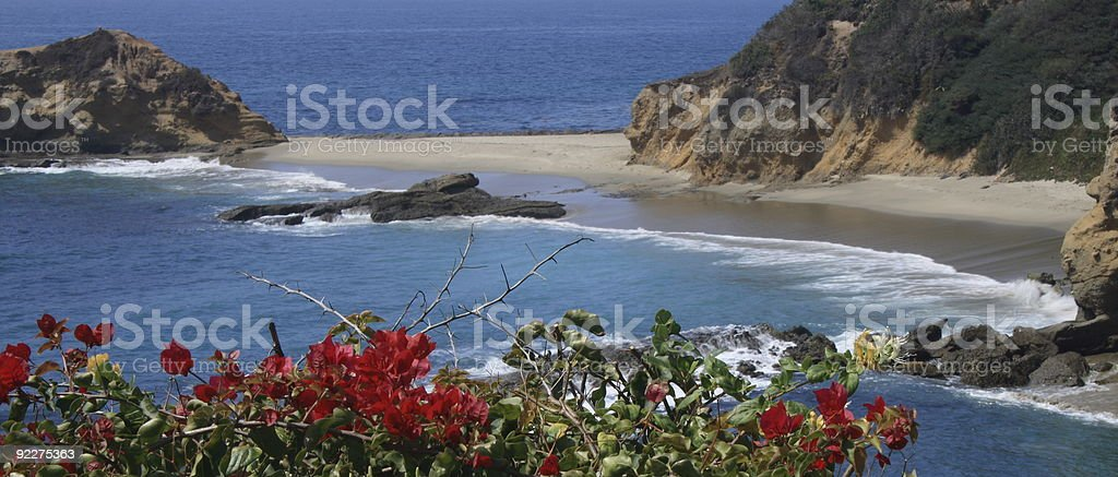 Beautiful Private Beach royalty-free stock photo