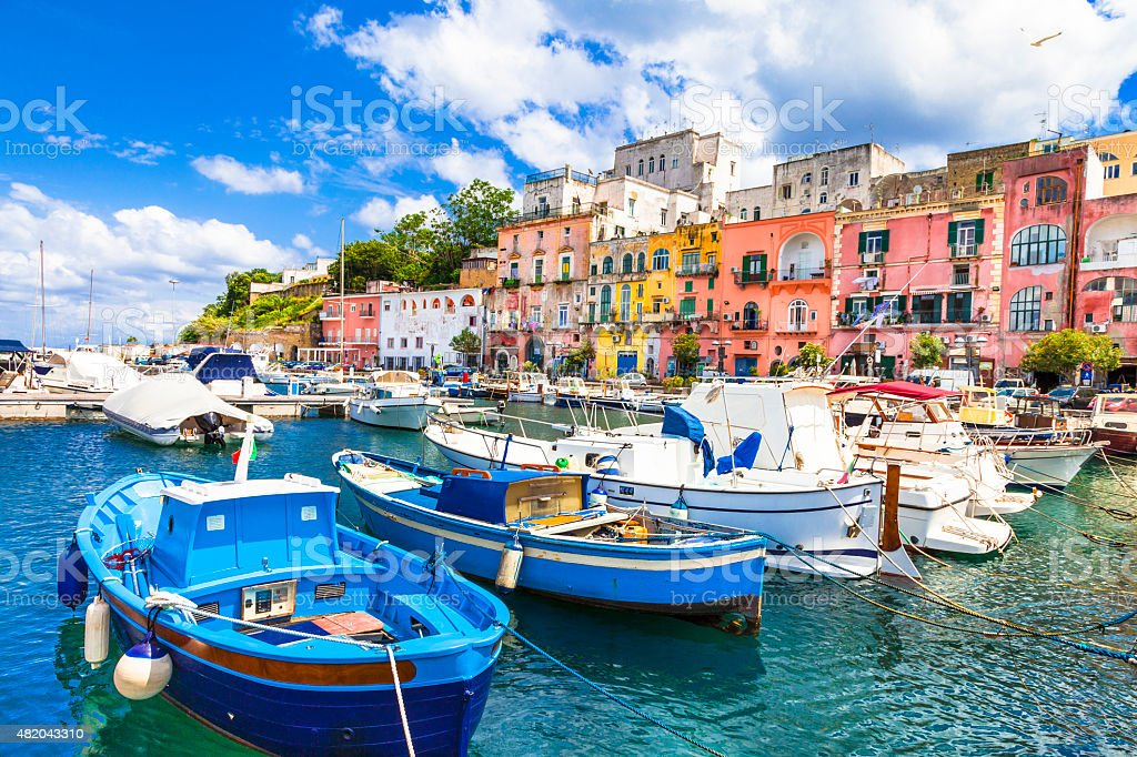 Beautiful Procida Island,Campania,Italy. stock photo