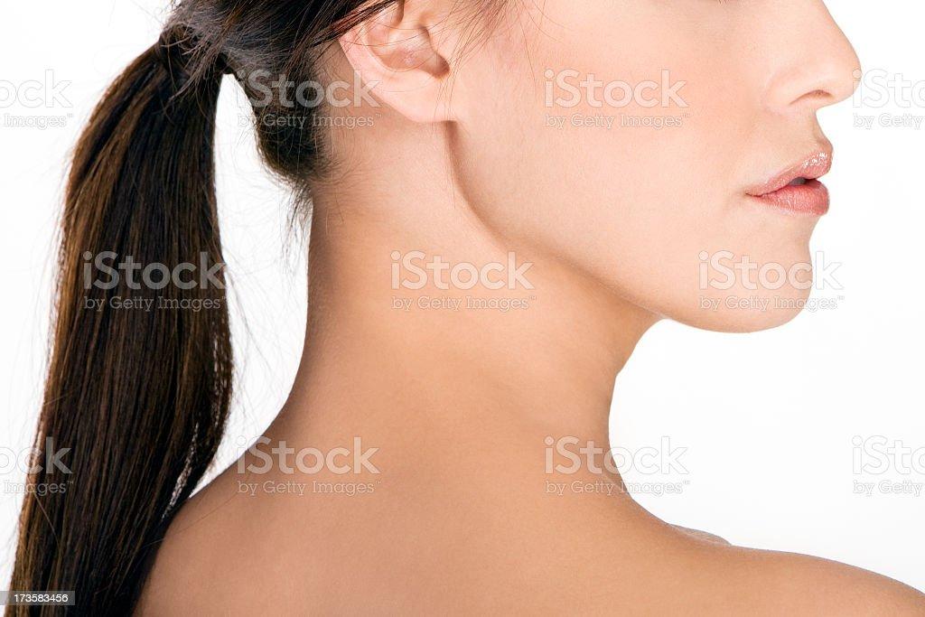 Beautiful Profile of a Women stock photo