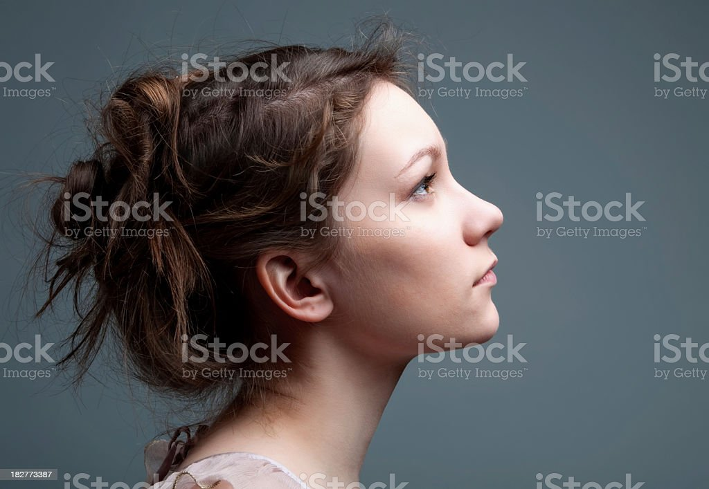 Beautiful profile stock photo