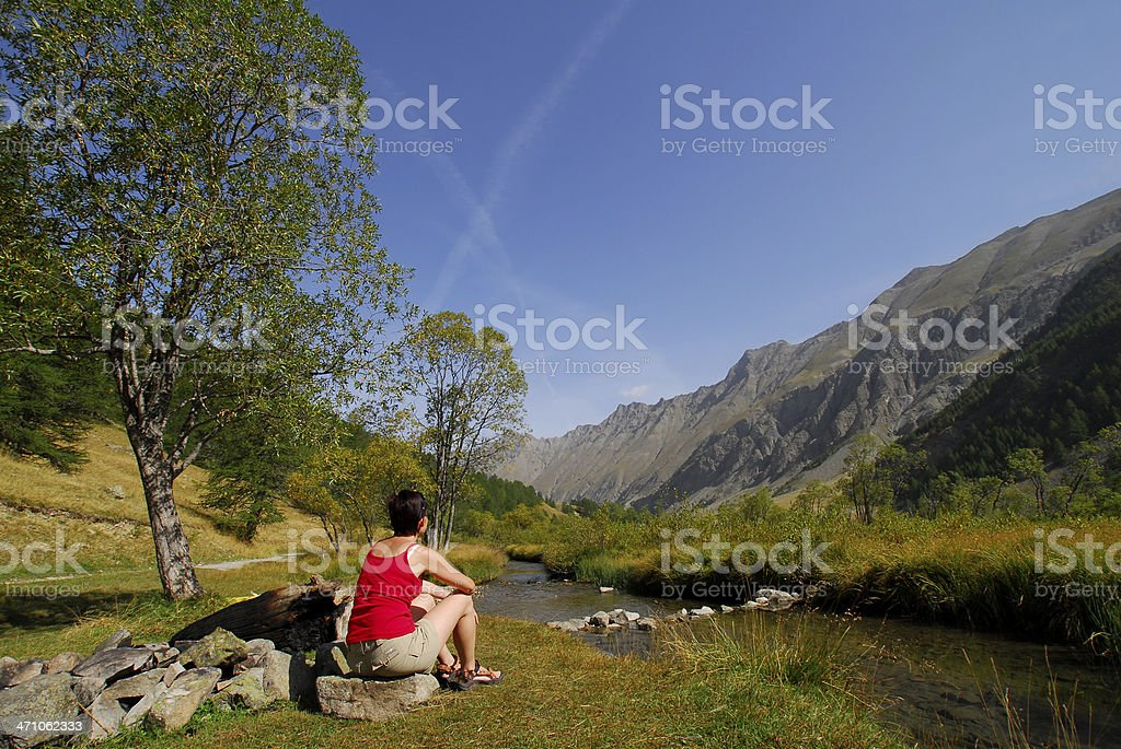 Beautiful  Provencals valley royalty-free stock photo