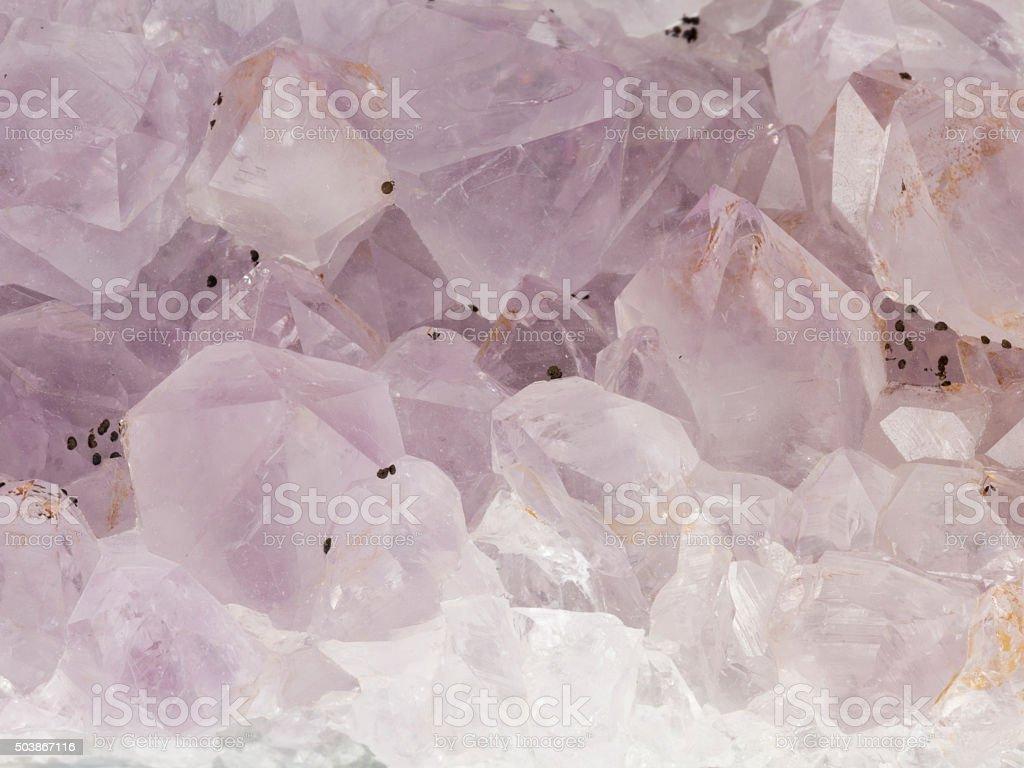 beautiful purple amethyst stock photo