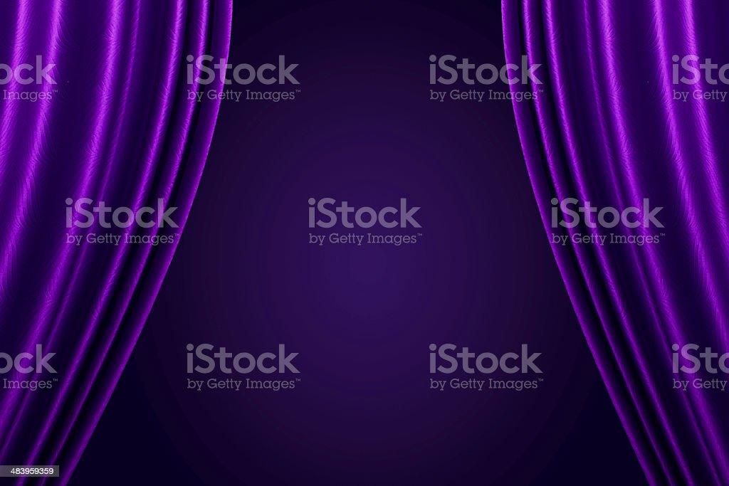 Beautiful Purple curtain background. stock photo