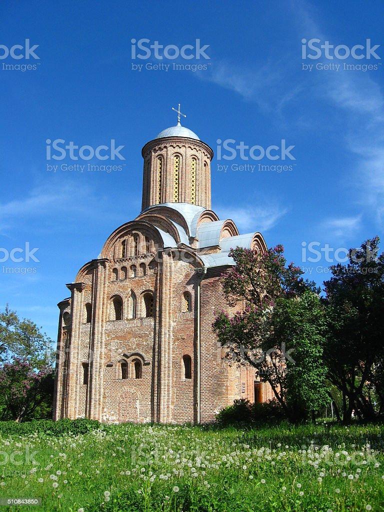 Beautiful Pyatnitska church in Chernihiv Ukraine stock photo