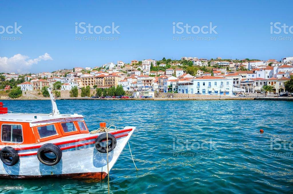 Beautiful Pylos, Greece stock photo