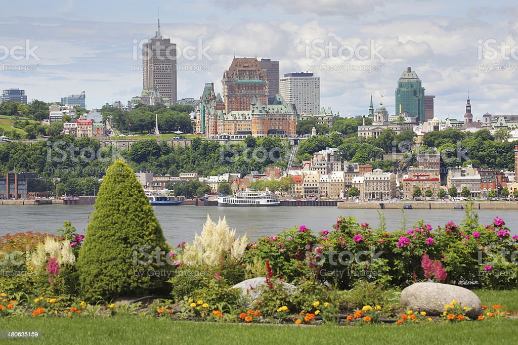 Beautiful Quebec City in Summer stock photo