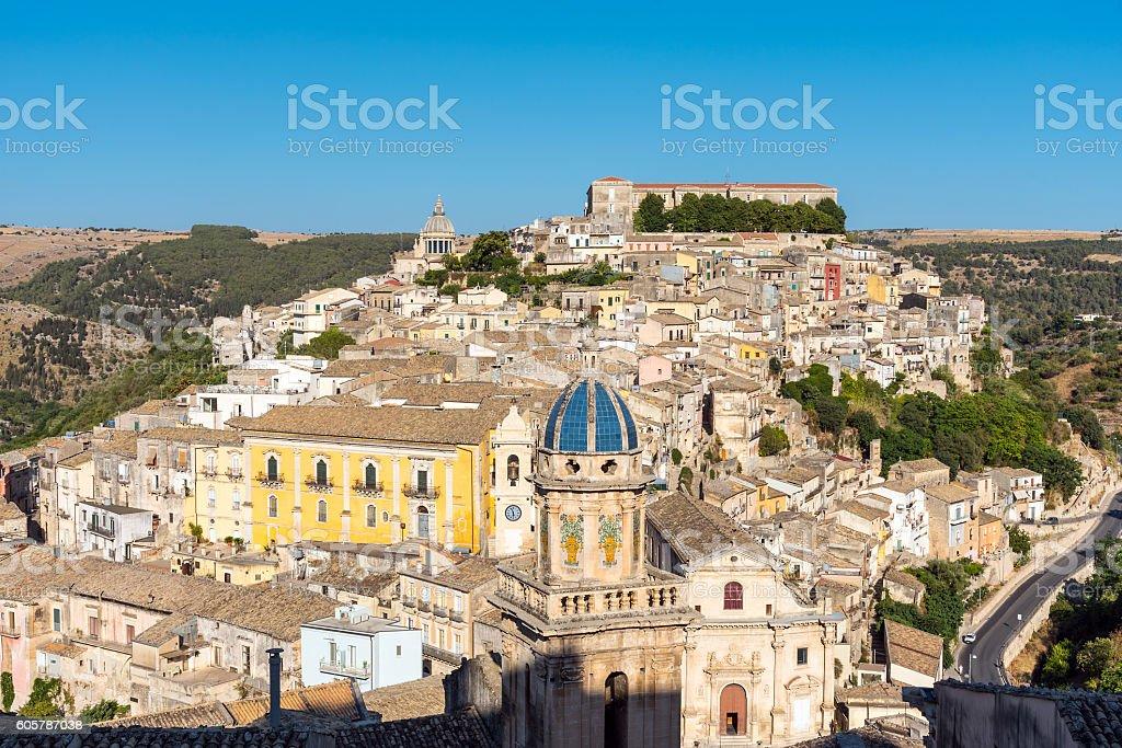 Beautiful Ragusa Ibla in Sicily stock photo