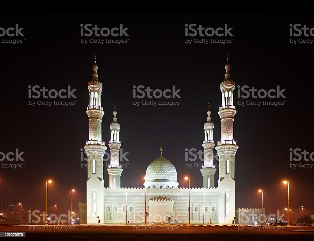 Beautiful Ras Al Khaimah Mosque near Dubai, UAE stock photo
