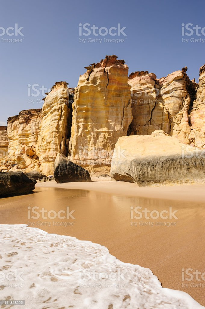 Beautiful Ras al-Jinz beach stock photo