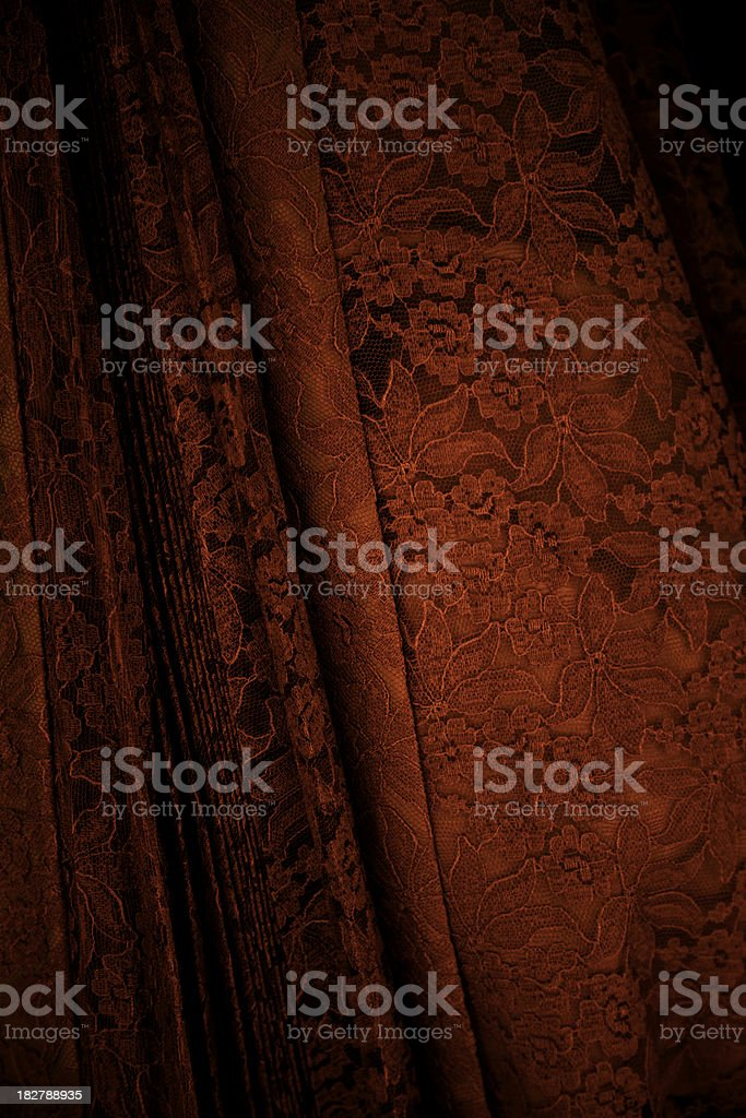 Beautiful Red Antique Lace royalty-free stock photo