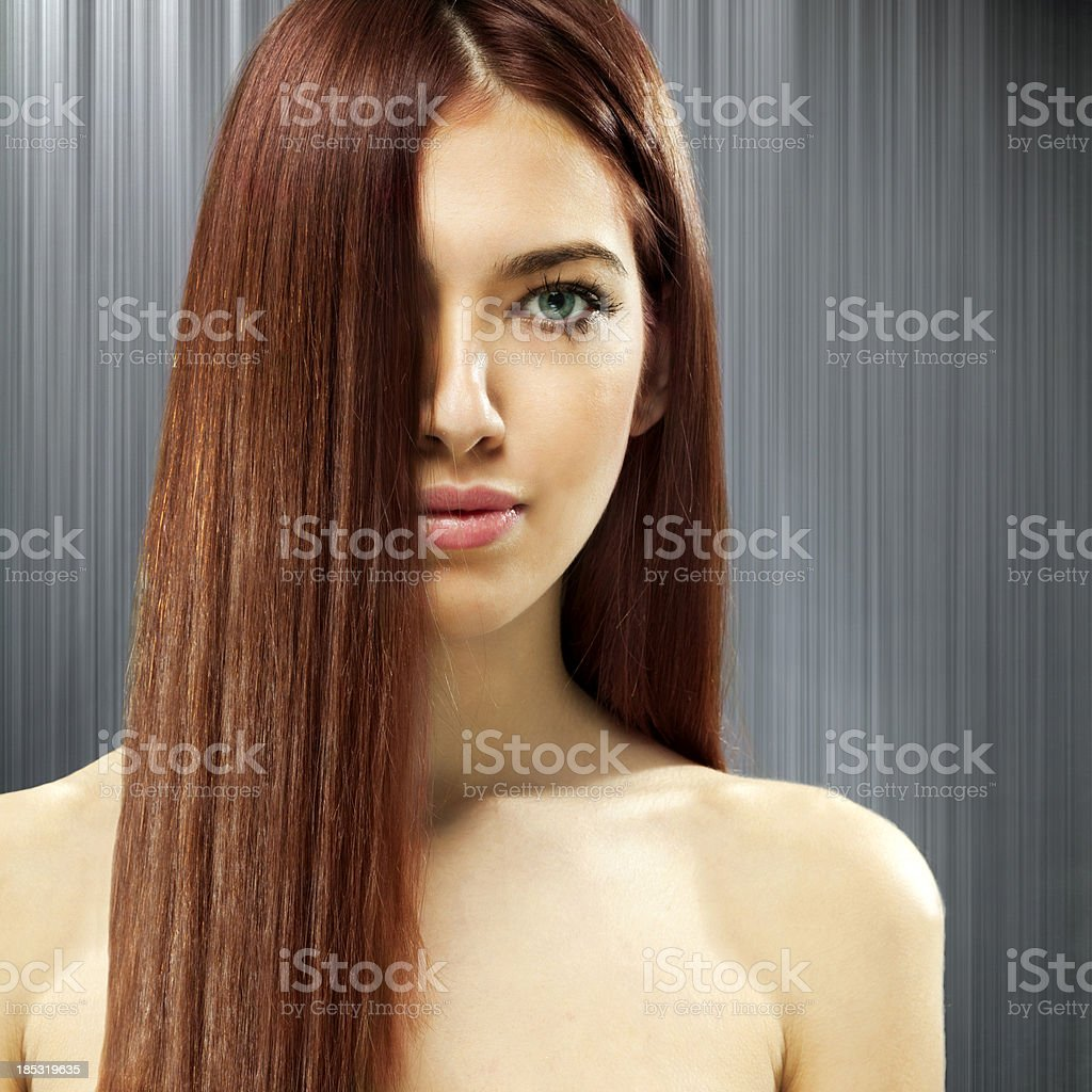 Beautiful red hair royalty-free stock photo