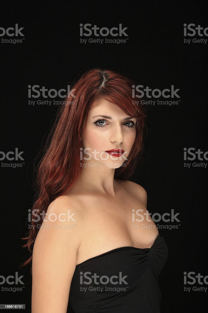 beautiful red hair young girl royalty-free stock photo
