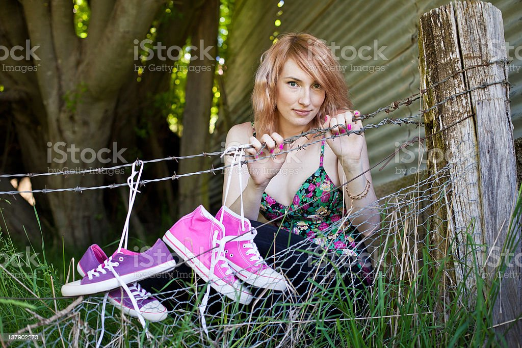 Beautiful Red Haired Woman stock photo