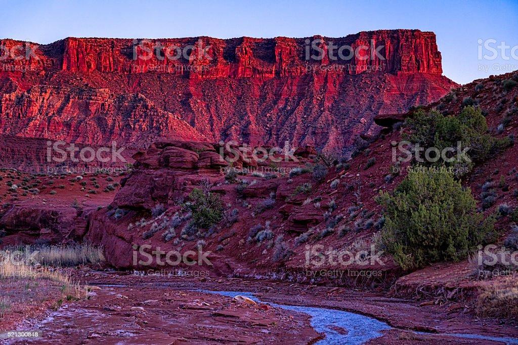 Beautiful Red Rock Canyon at Sunset stock photo