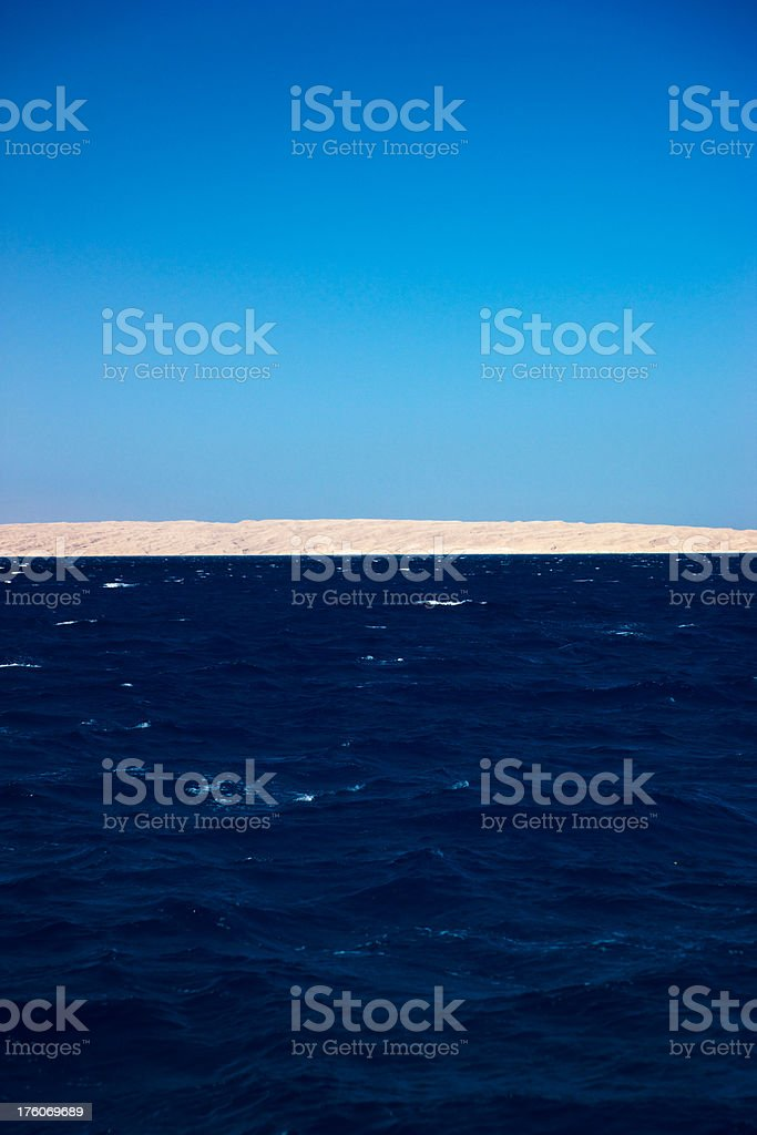 Beautiful Red Sea Ocean stock photo