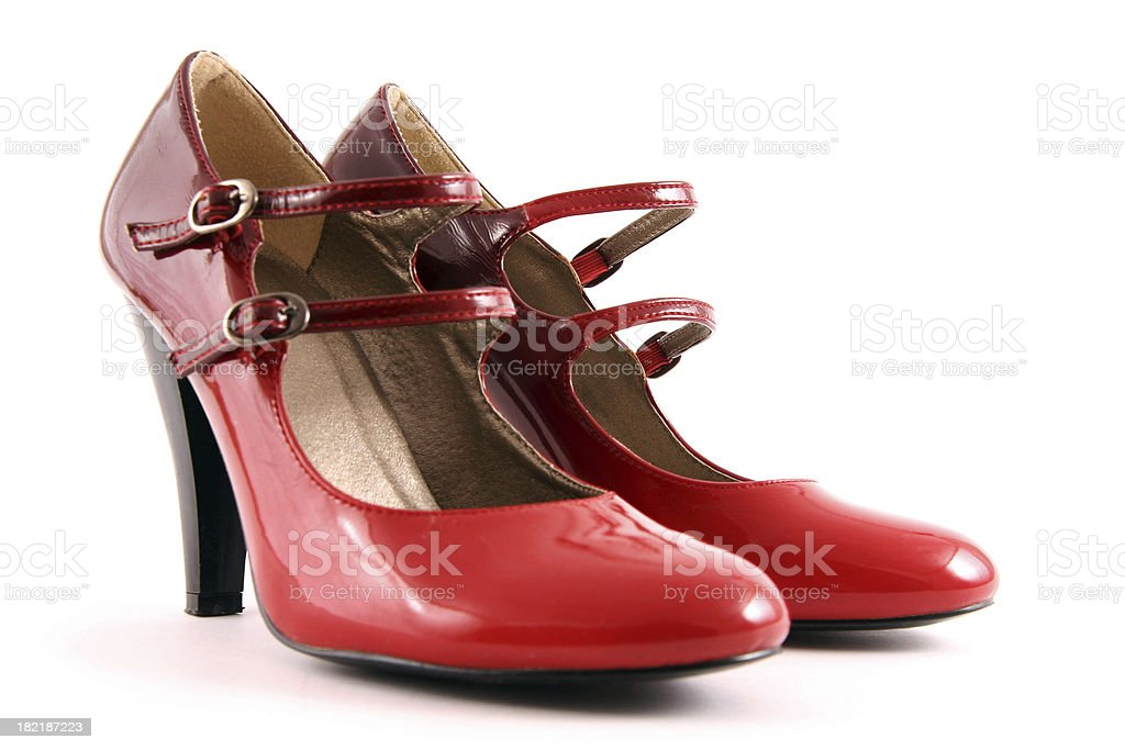 Beautiful red shoes royalty-free stock photo