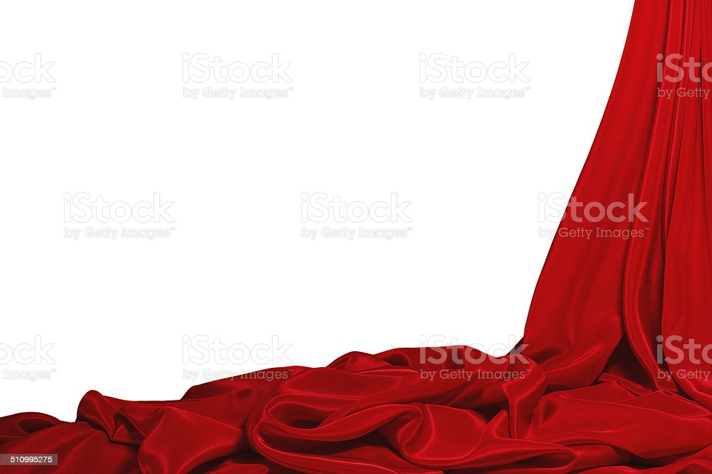 Beautiful red silk background stock photo