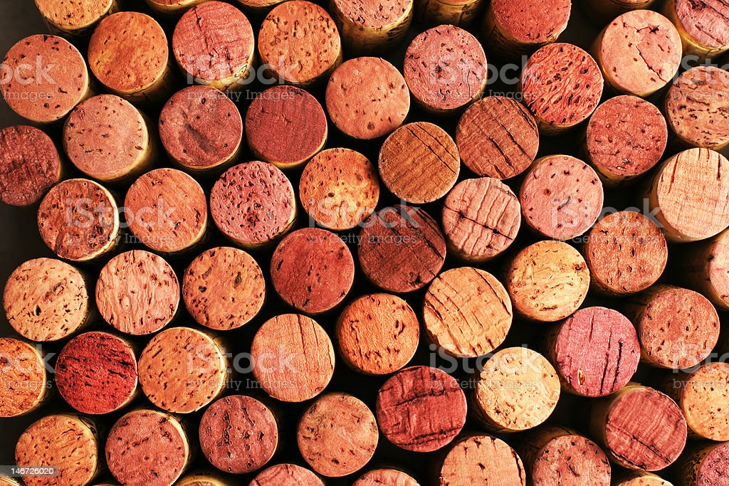 Beautiful Red Wine Corks royalty-free stock photo