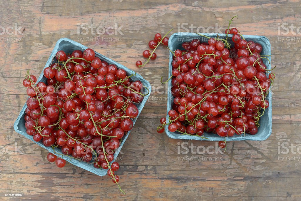 Beautiful Redcurrants (Red Currants) on Table royalty-free stock photo