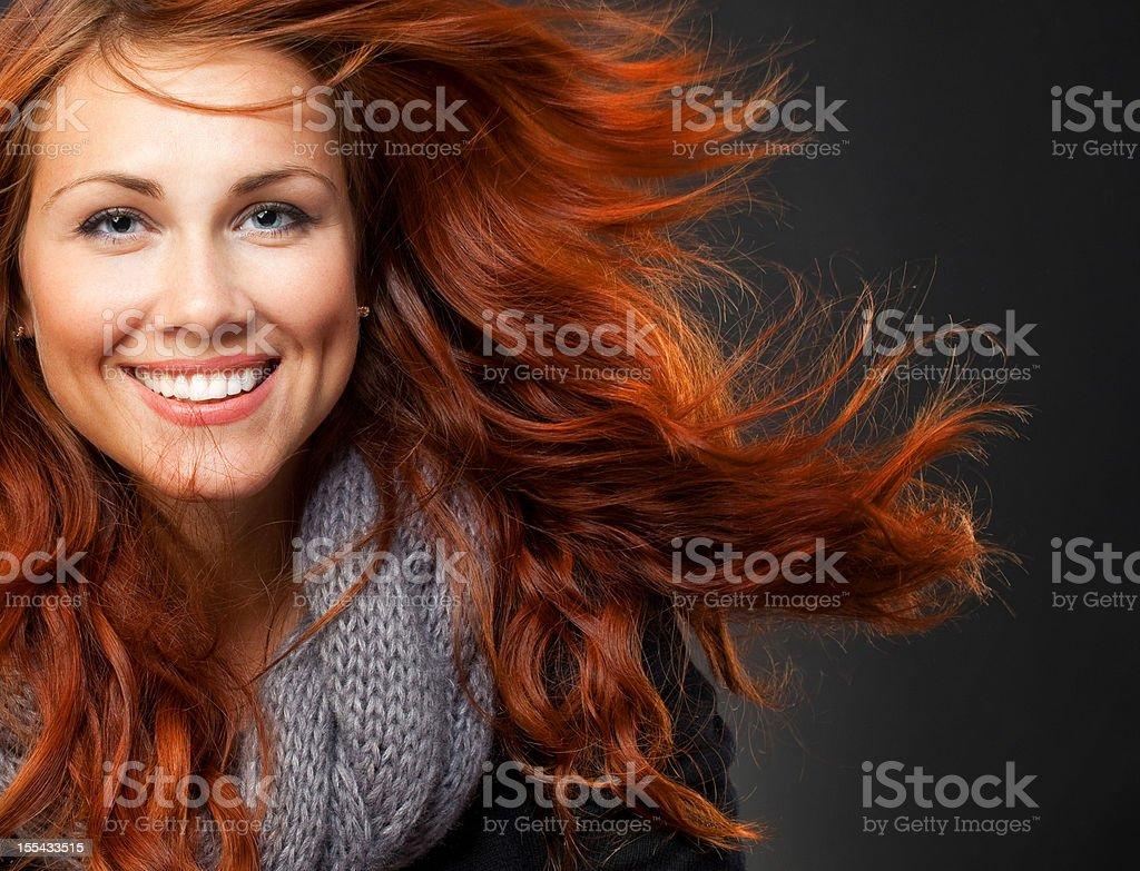 beautiful redhead girl royalty-free stock photo