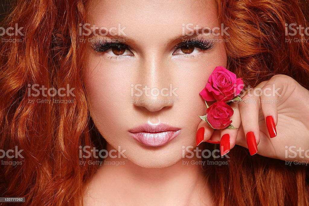 Beautiful redhead royalty-free stock photo