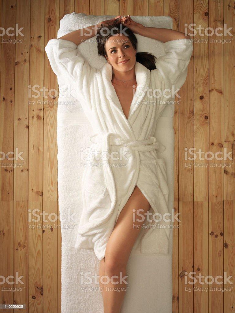 Beautiful relaxing massage royalty-free stock photo