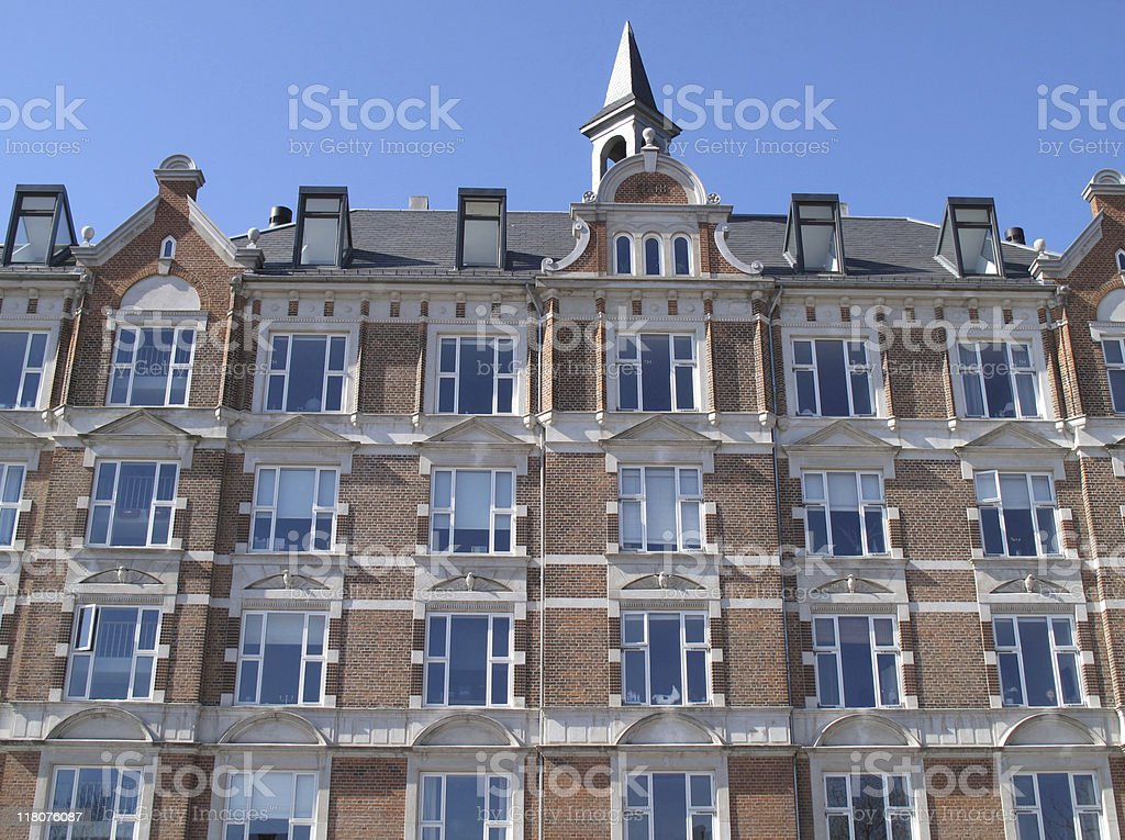 Beautiful renovated condos stock photo