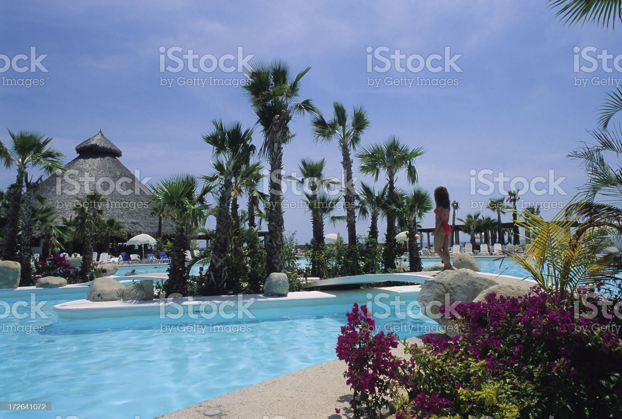 Beautiful Resort Pool royalty-free stock photo