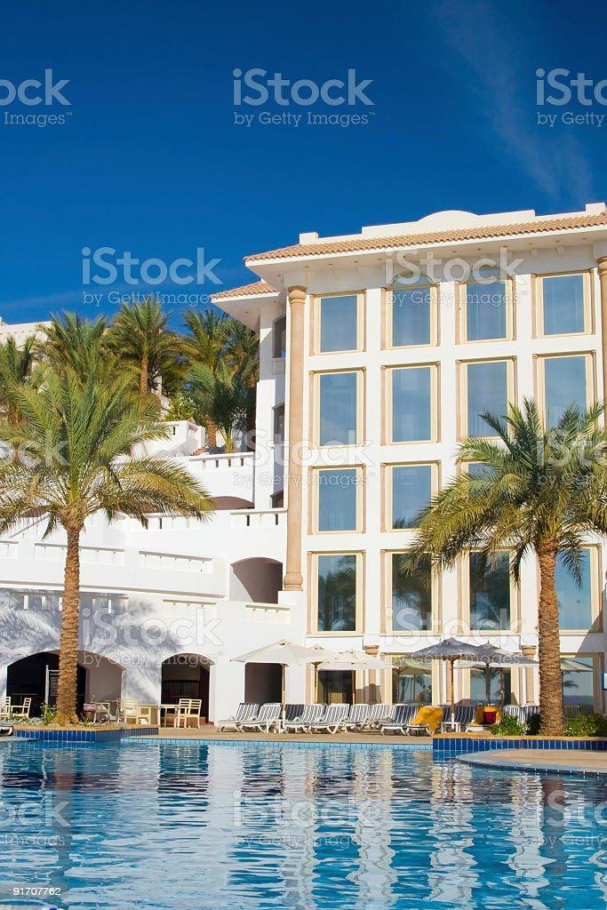 Beautiful Resort Pool royalty-free stock photo