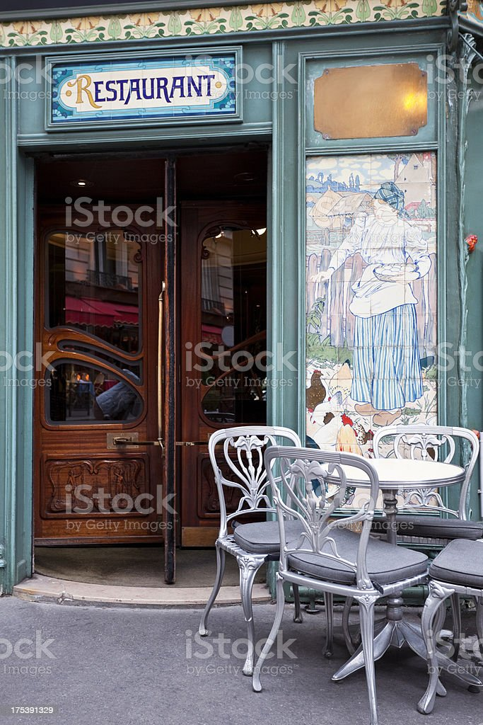 Beautiful Restaurant in Art Nouveau Style, Paris, France royalty-free stock photo