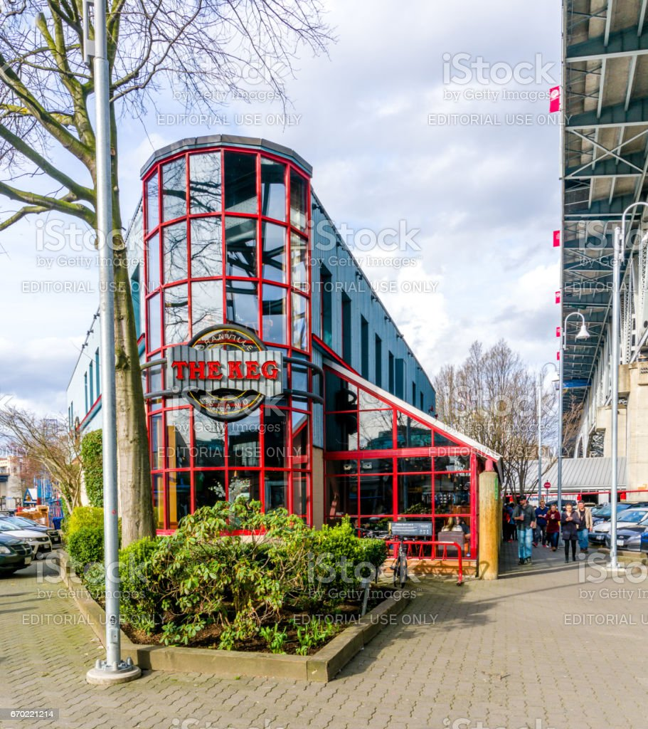 A beautiful restaurant on the Granville Island stock photo