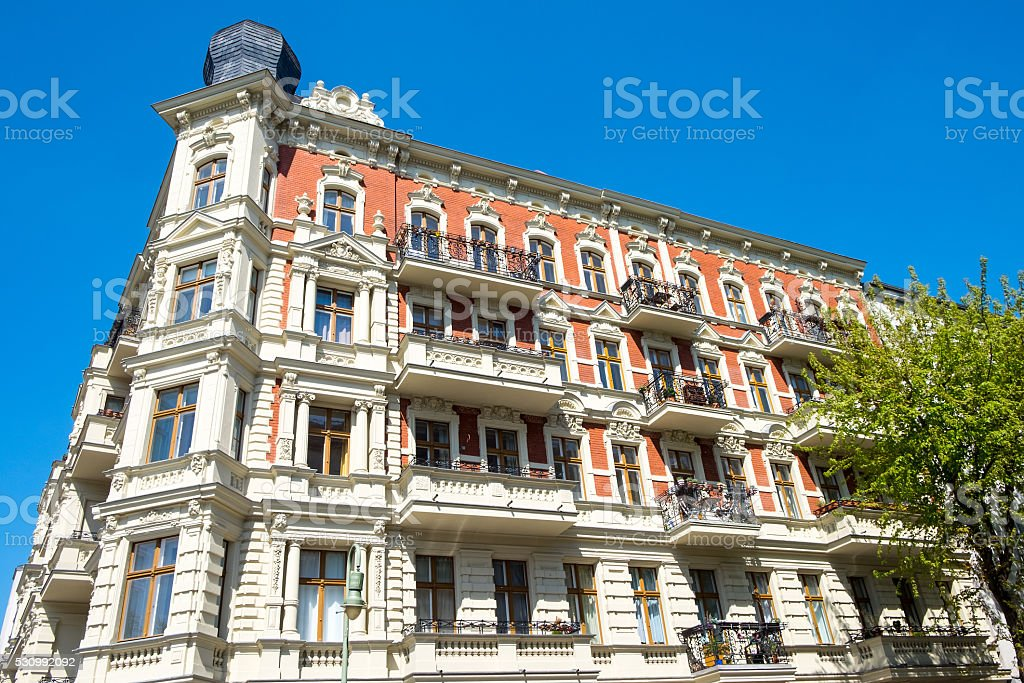 Beautiful restored building in Berlin stock photo