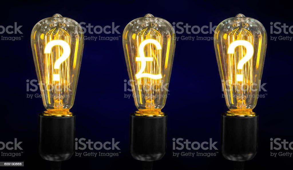 Beautiful retro luxury light lamp. stock photo