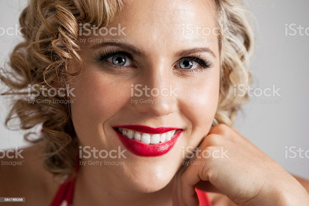 Beautiful Retro Pinup Girl Portrait stock photo