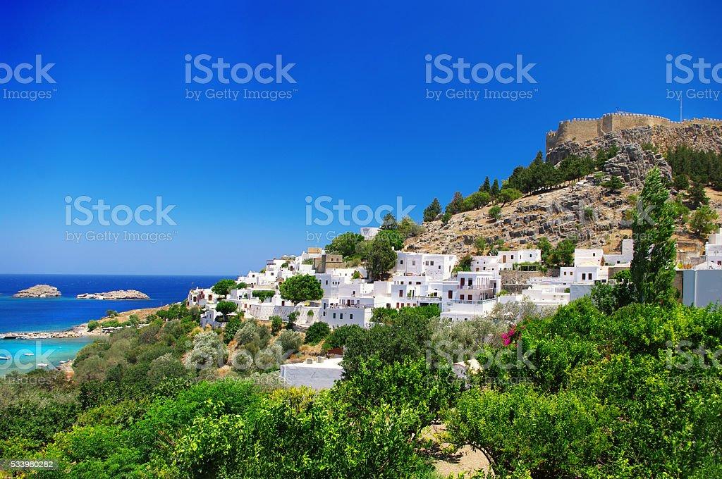 Beautiful Rhodes Island,Greece. stock photo