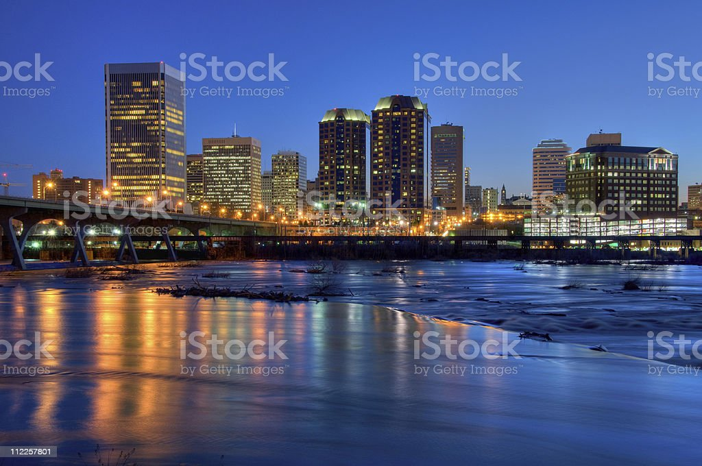 Beautiful Richmond Cityscape (HDR Version) stock photo