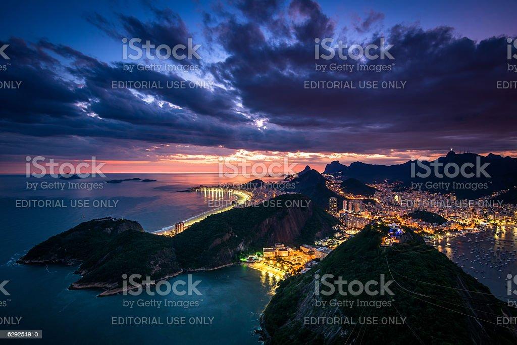Beautiful Rio de Janeiro Sunset stock photo