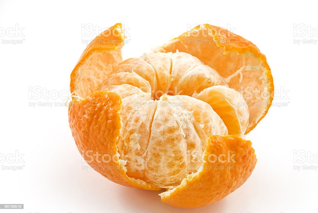 Beautiful ripe tangerine royalty-free stock photo