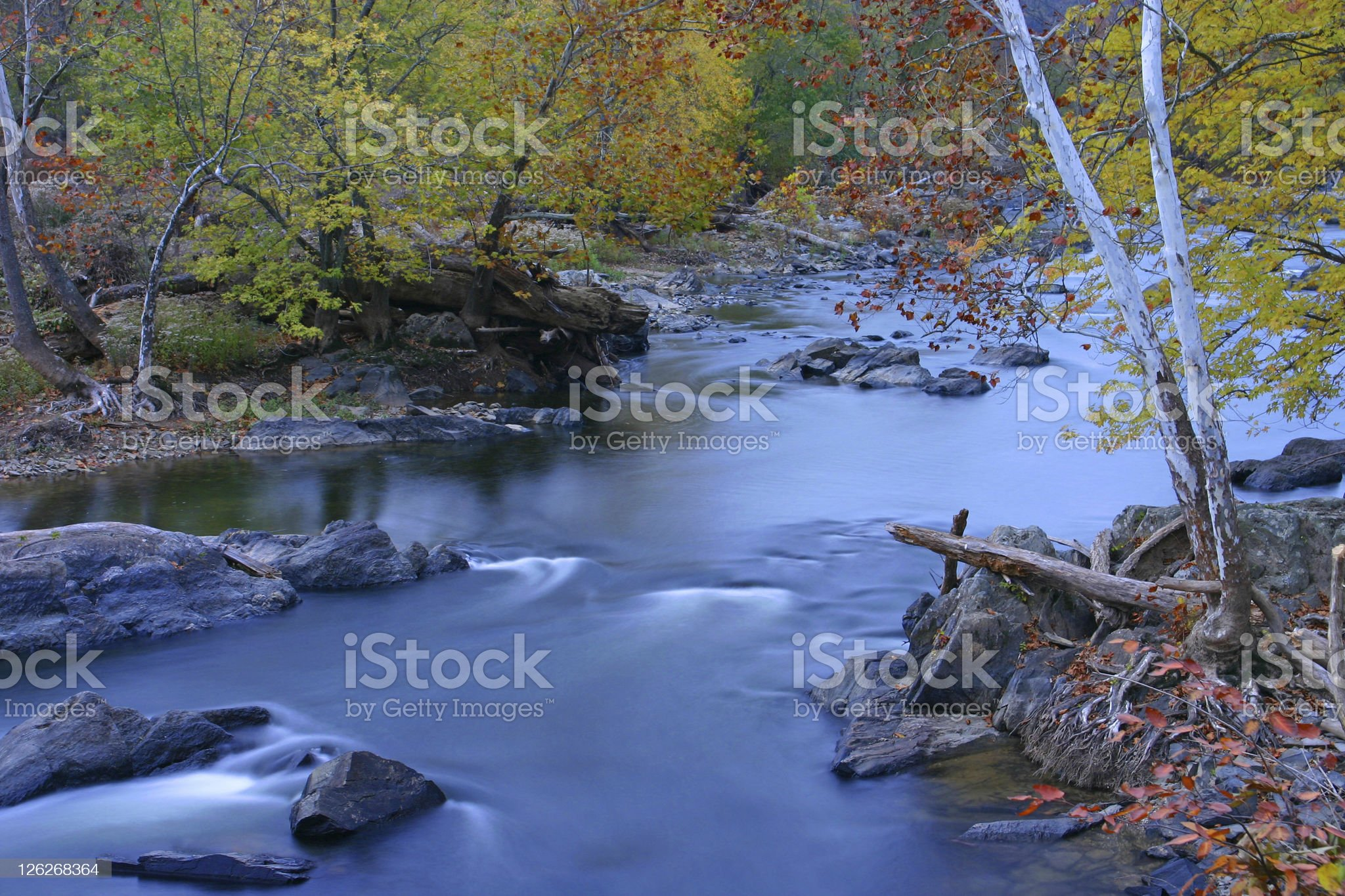 Beautiful river in autumn (USA) royalty-free stock photo
