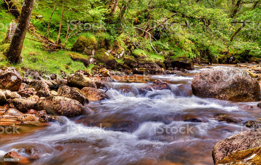 Beautiful River in the Scottish Highlands royalty-free stock photo
