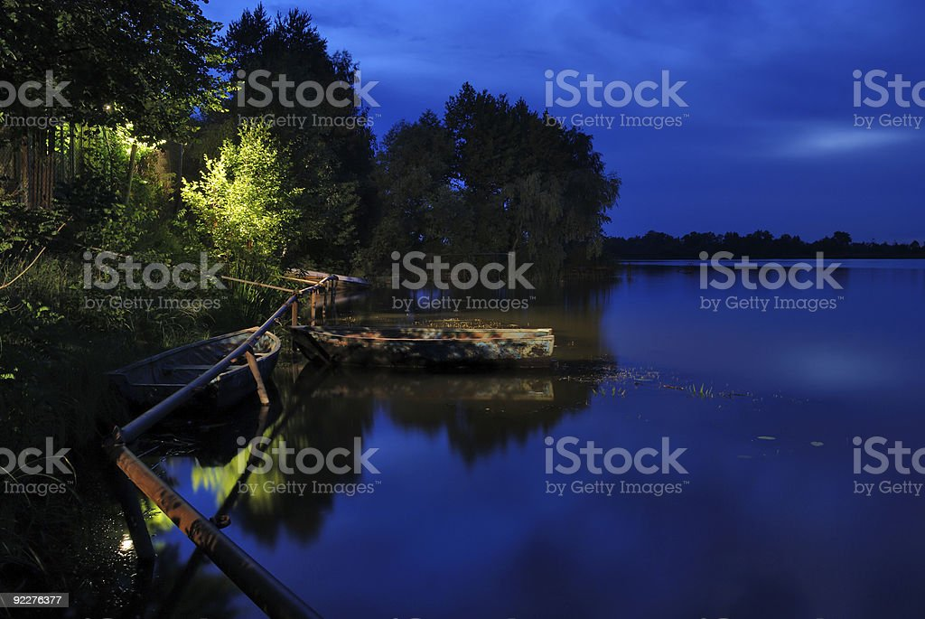 Beautiful river landscape stock photo