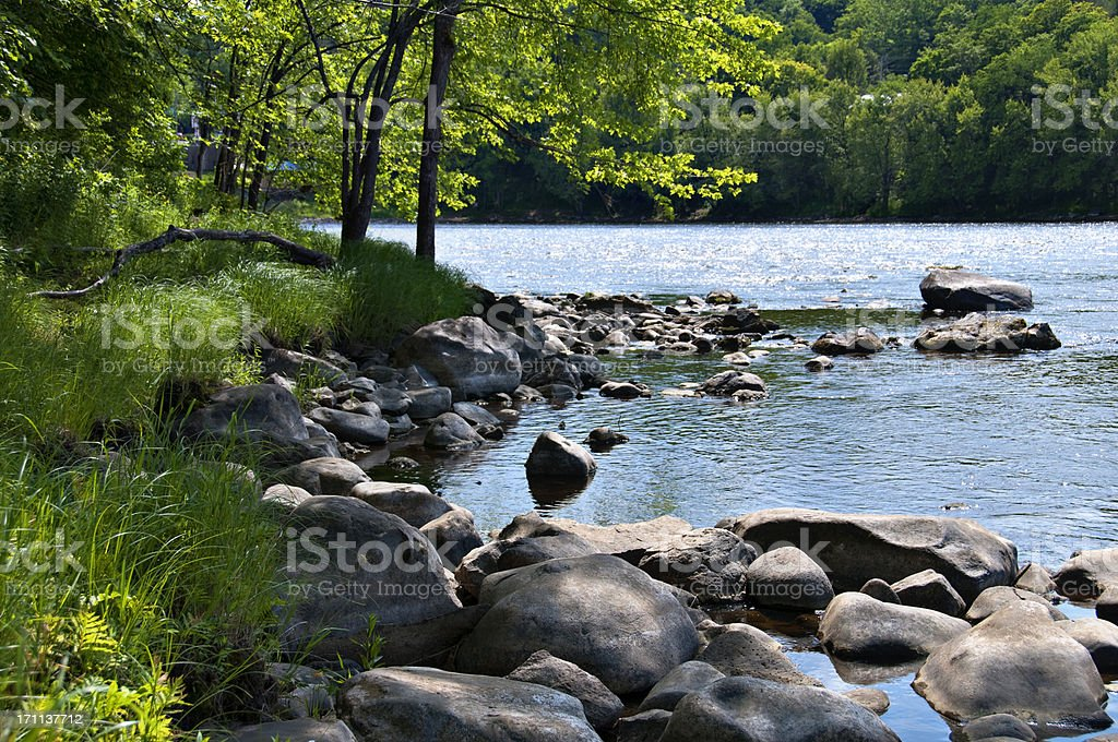 Beautiful Riverbank stock photo