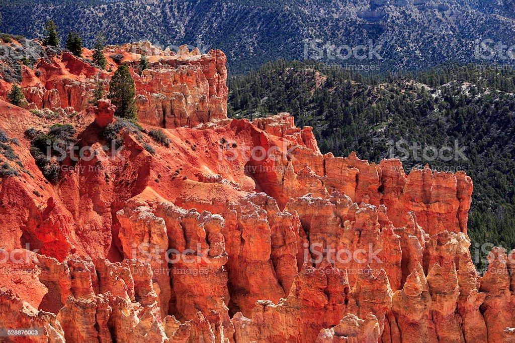 Beautiful rock formations at Bryce canyon, USA stock photo
