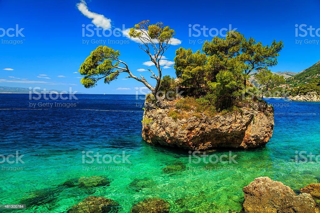 Beautiful rock island,Brela,Makarska riviera,Dalmatia,Croatia,Europe stock photo