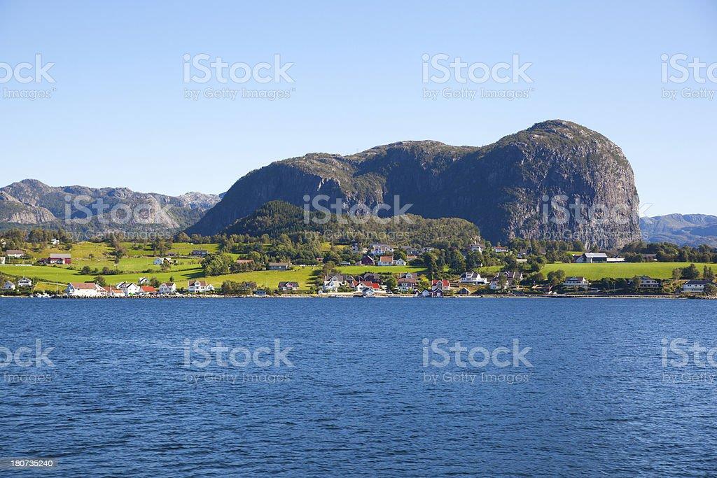 Beautiful rock on lake royalty-free stock photo