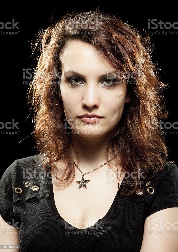 Beautiful Rock Woman stock photo