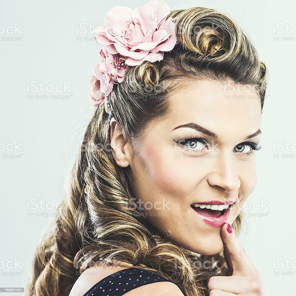 Beautiful rockabilly woman royalty-free stock photo