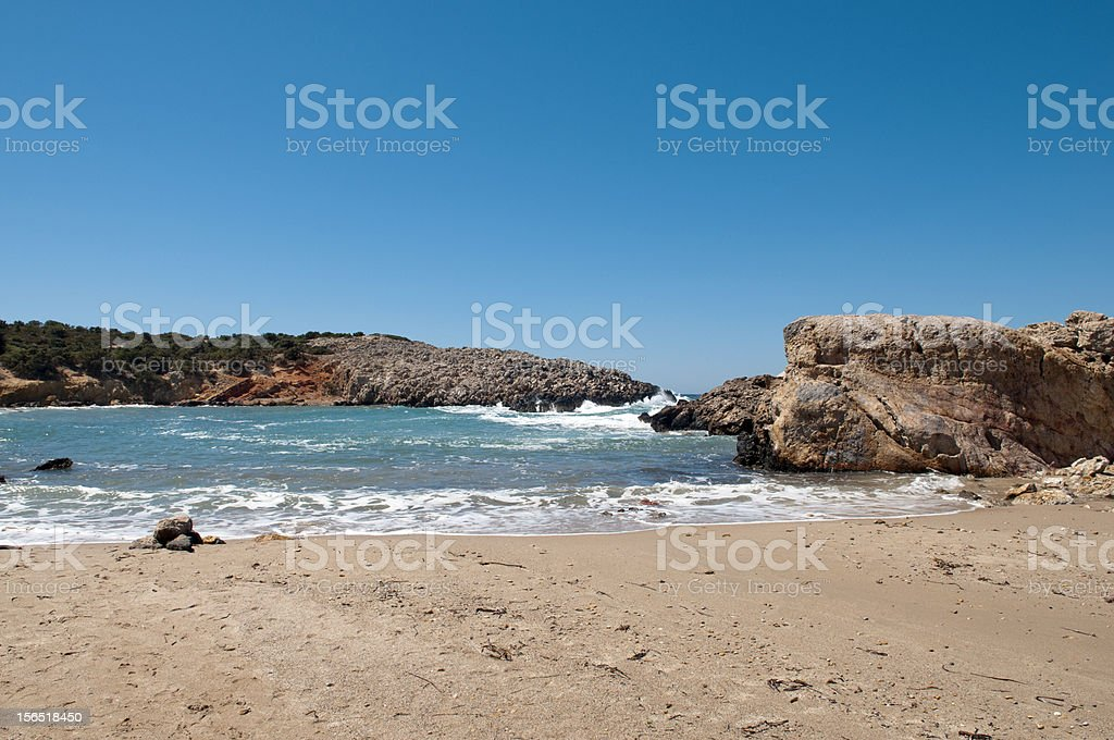 Beautiful rocky beach. royalty-free stock photo