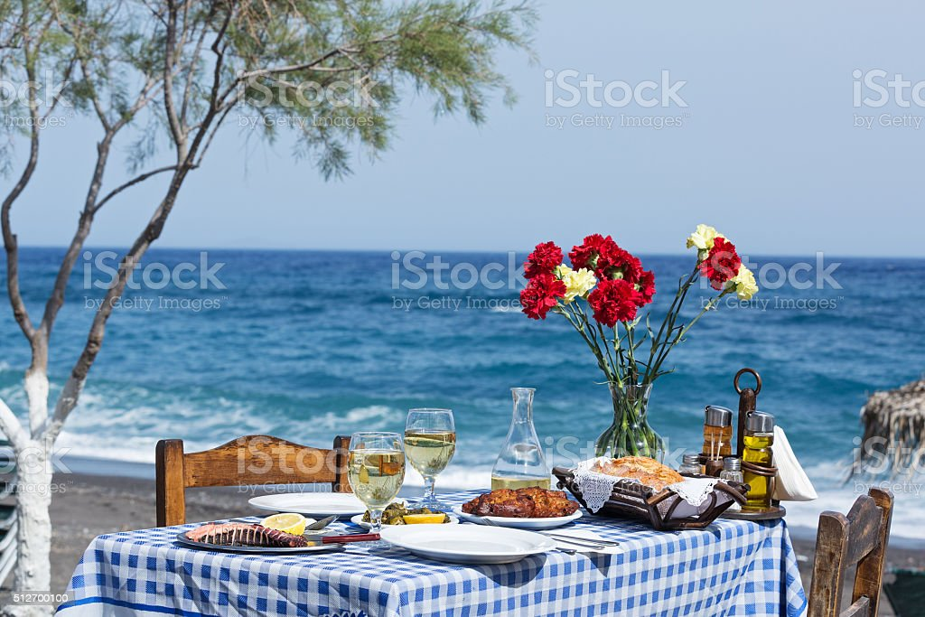 Beautiful romantic table stock photo